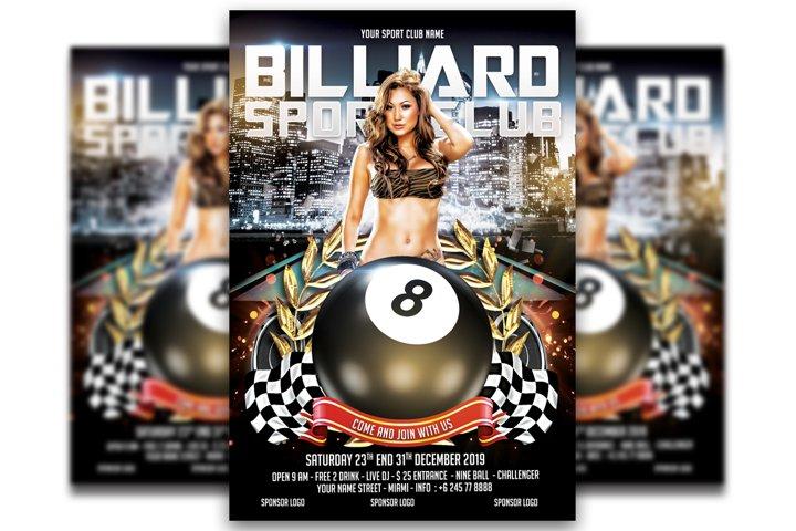 Billiard Flyer templates