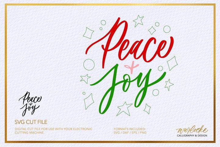 SVG Peace & Joy Christmas Cut File