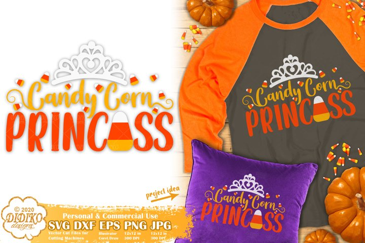 Halloween SVG | Candy Corn SVG | Candy Corn Princess SVG