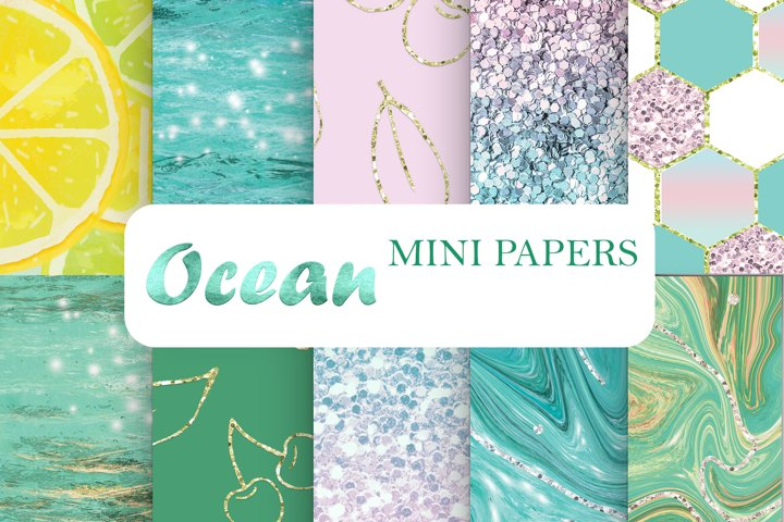 Marble Glitter Digital Paper Texture Pattern Scrapbooking