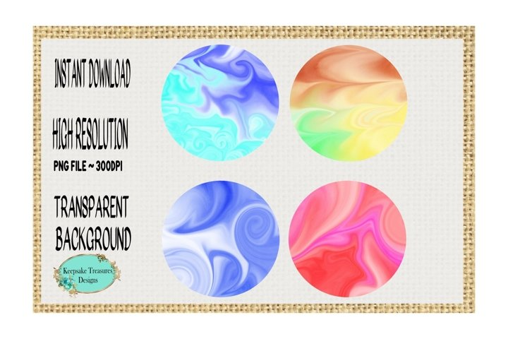 Watercolor Marbleize Background Elements