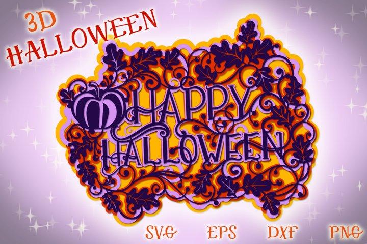 3D Halloween - 4 SVG cut files example