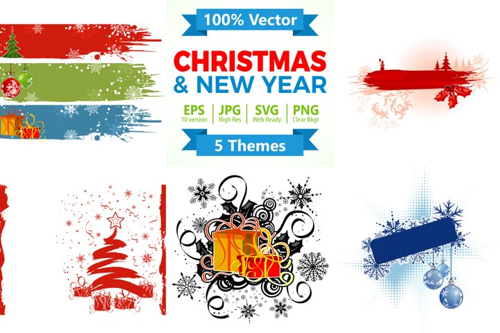 Christmas and New Year Backgrounds