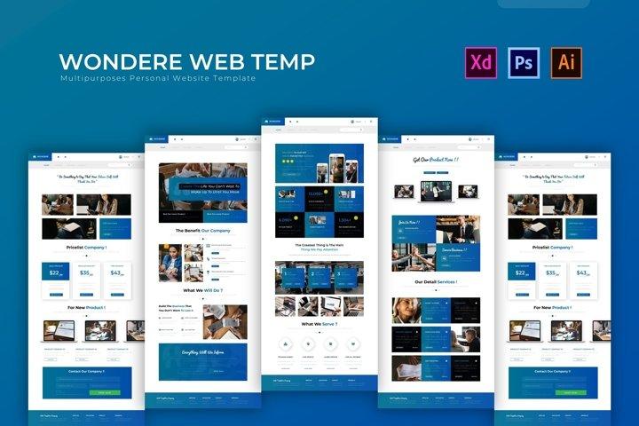 Wondere   Web Template