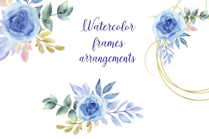 Watercolor frames and arrangements