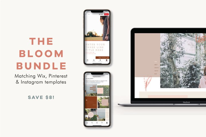 The Bloom Bundle | Wix Template | Social Templates