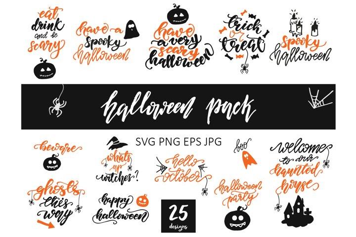 Halloween SVG Bundle, Digital Clipart, Halloween Cut File