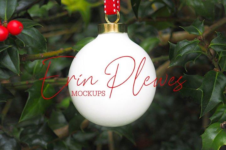 Christmas Ornament Mockup| Xmas Ball Ornament Mock Up | Jpeg