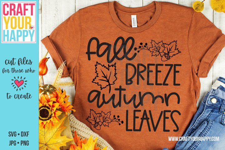 Fall Breeze Autumn Leaves - Fall SVG/Sublimation PNG