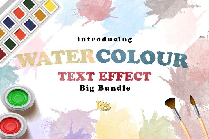 BIg Bundle WaterColour Text Effect