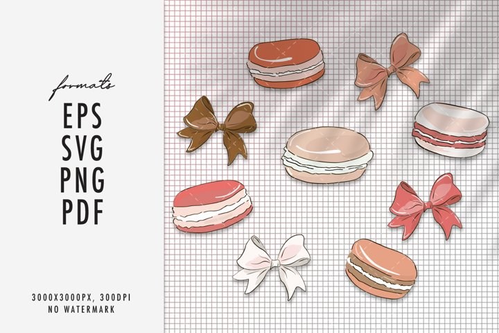 Macaroon SVG sweets clipart vector cricut silhouette craft