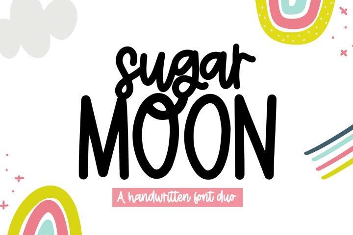 Sugar Moon - A Print/Script Handwritten Font Duo