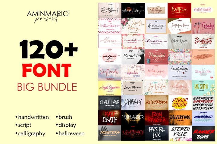Big Bundle 120 Fonts