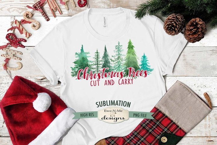Christmas Trees | Christmas Winter Sublimation PNG