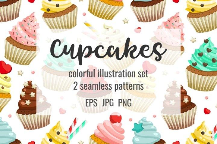 Cupcakes set & patterns