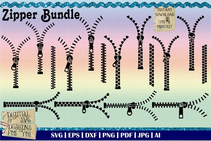Zipper bundle svg | Mask zipper cutfile | Sewing zipper svg