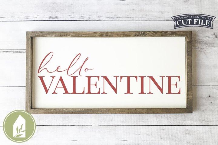 Hello Valentine SVG, Valentines Day Wood Sign SVG