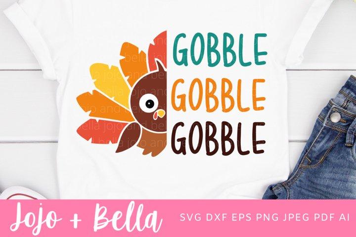 Turkey Svg | Gobble SVG| Thanksgiving SVG