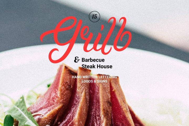 15 Grill & Barbecue Logo Set
