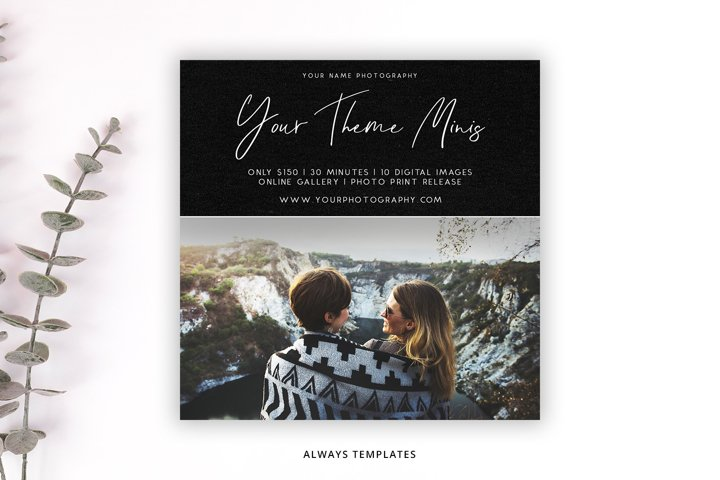Photography Mini Session Template PM044