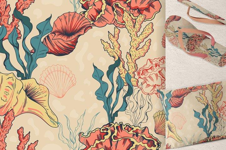 Seamless coral pattern