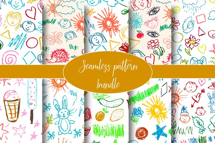 Interesting seamless pattern for backgrounds, textiles