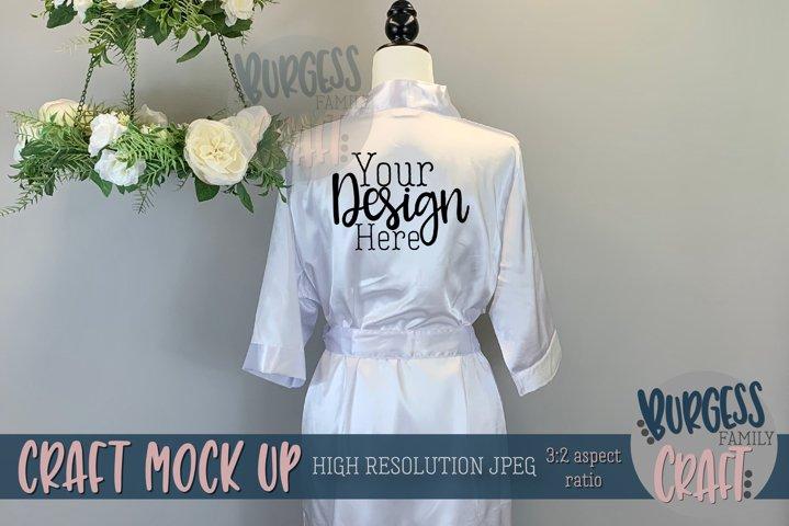 White silk robe   Craft mock up
