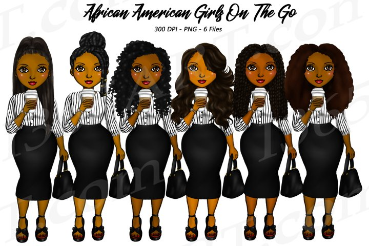 Black Woman Clipart Girl Boss Clipart Fashion Illustrations