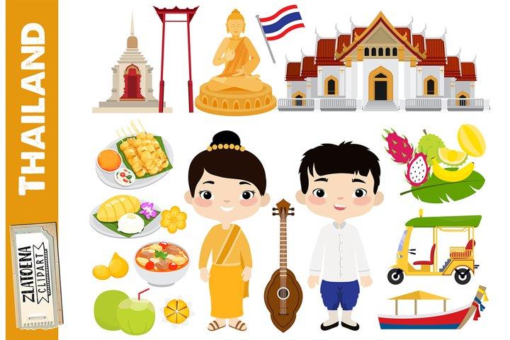 Thailand clipart Travel Southeast Asia Flag Buddha Culture