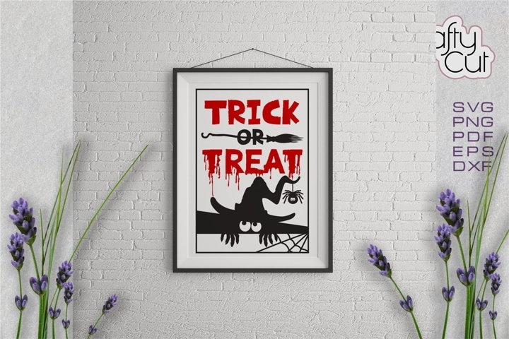 Halloween svg file Trick or Treat cut file