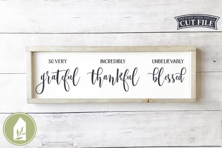 So Very Grateful SVG, Fall SVG, Thanksgiving SVG