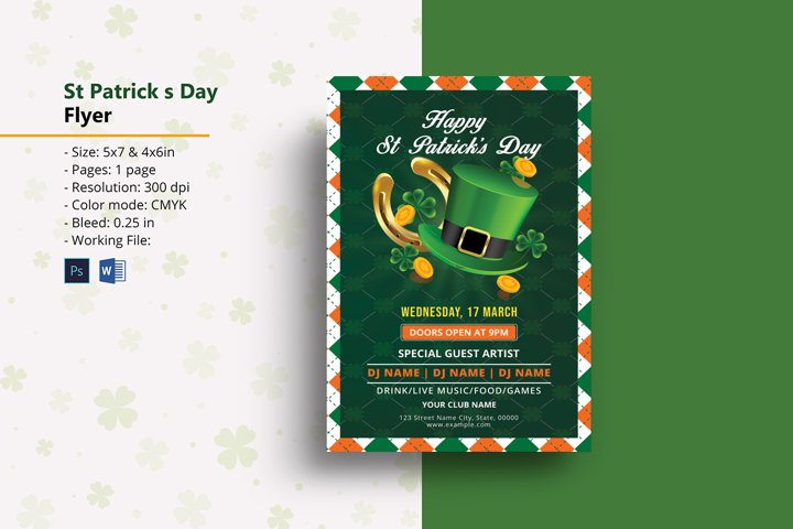 Saint Patricks Day Party Flyer