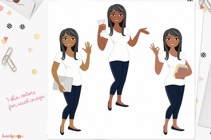 Teacher woman character clip art L552 Bonita
