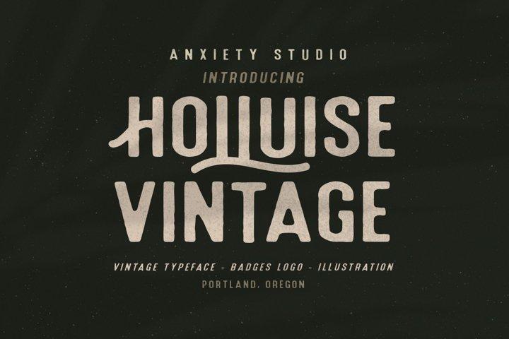 Holluise Vintage Extra Badges Logo