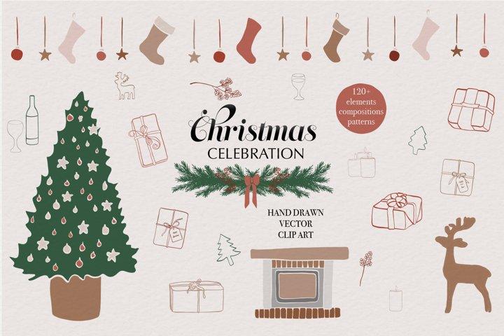 Christmas / New year / Winter / Vector / Clip art