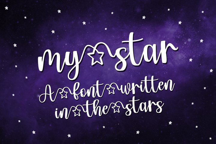 My Star - a font written in the stars - Free Font Of The Week Font