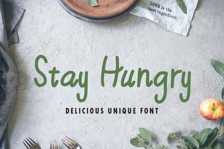 Stay Hungry - Food Font