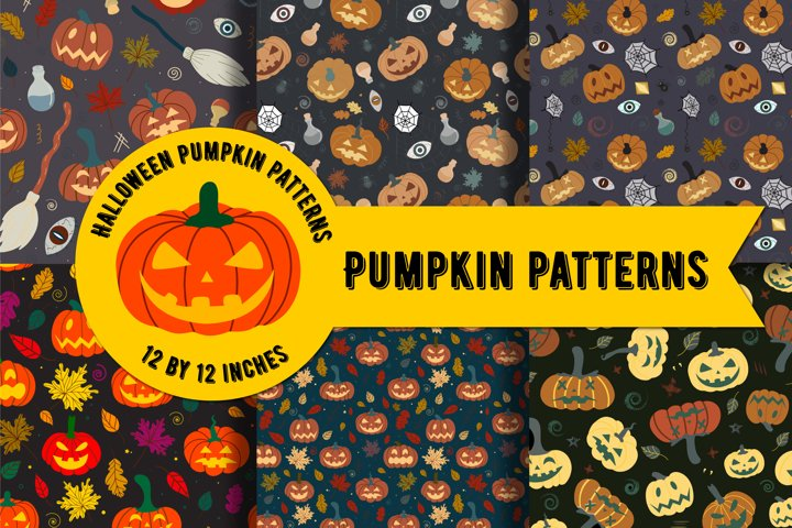 Pumpkin pattern | Halloween Digital Paper