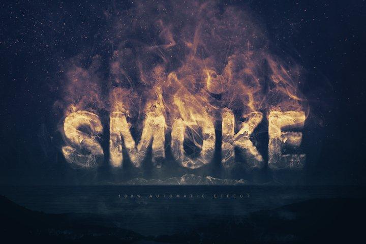 Smoke Logo Text Effect Template