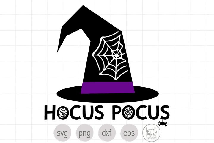 Hocus Pocus with Witch Hat SVG and Clipart for Halloween