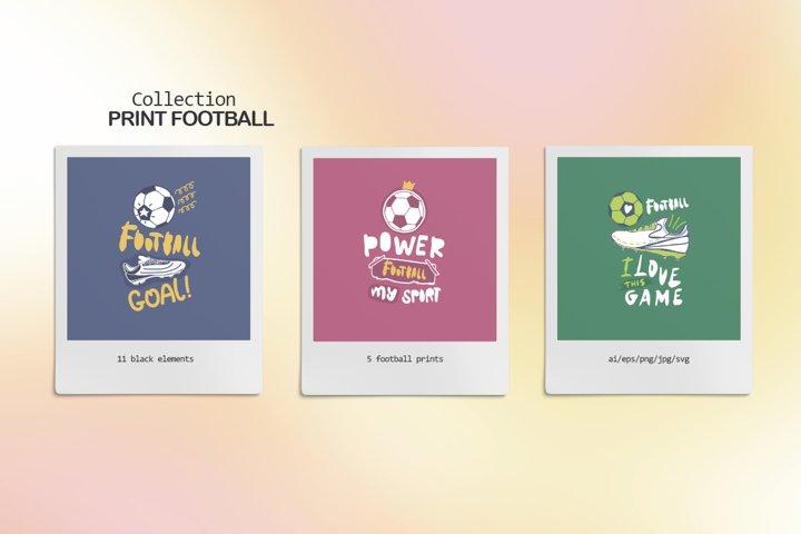 Collection Print Football