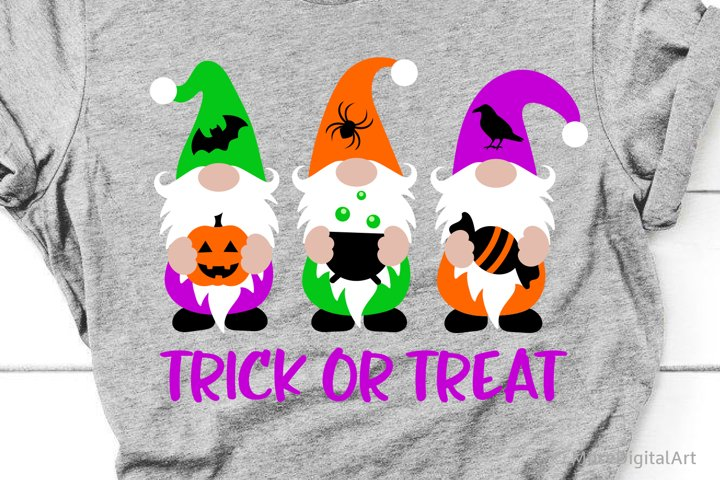 Halloween Gnomes Svg, Trick or Treat, Boo Girl Svg, Kids Svg