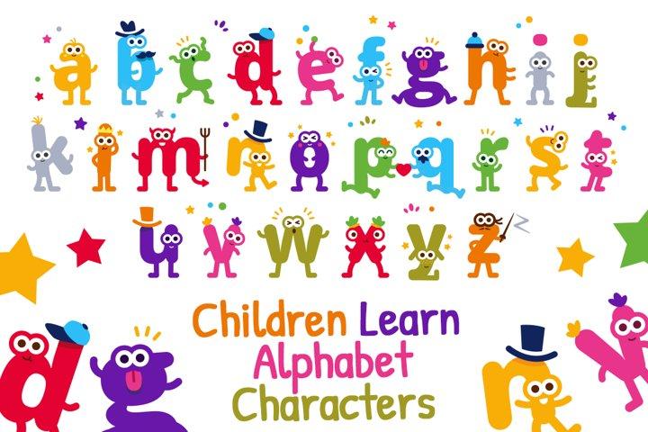 Children Learn Alphabet Letters