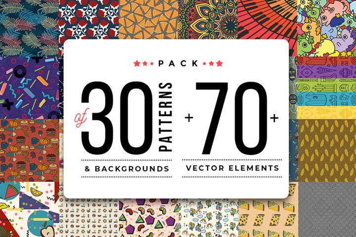 Pack Of 30 Patterns & Backgrounds