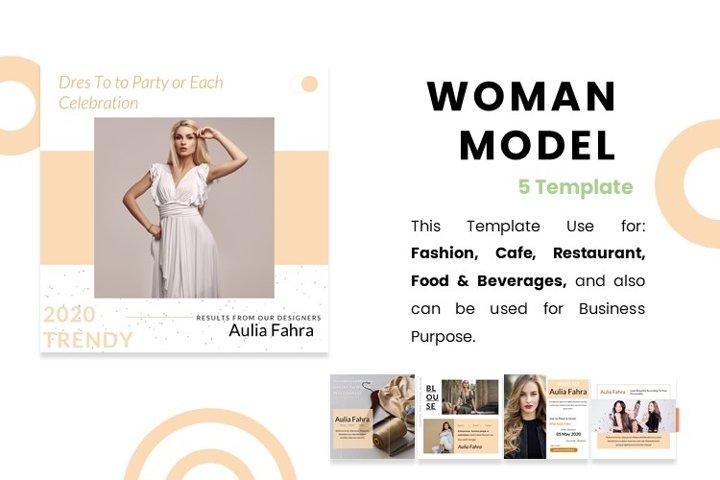 Instagram Feed - Woman Model