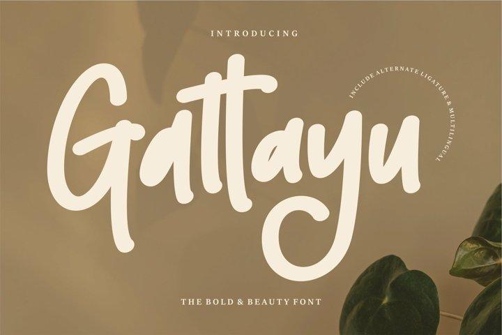 Web Font Gattayu - The Bold Beauty Font