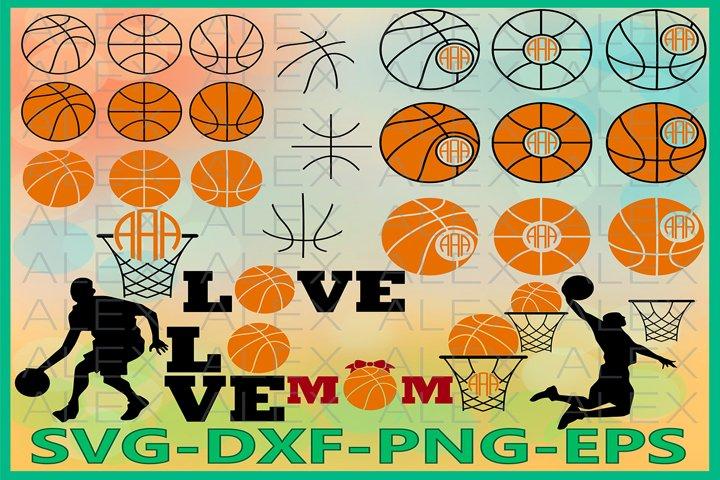 Basketball Monogram Svg, Basketball SVG, Basketball Love SVG
