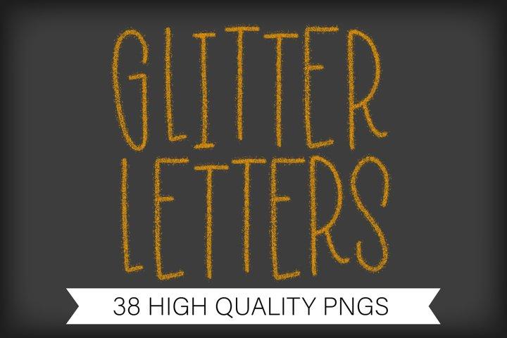 Sublimation Glitter Letter A-Z Alphabet - PNG Letters