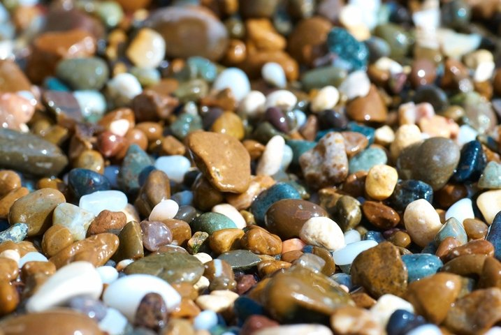 Texture of colorful stones pebbles for background