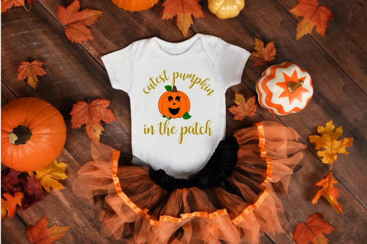 Cutest Pumpkin in the Patch, fall svg